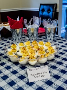 Pickled Spring Onion Deviled Eggs